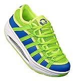 art 326 Fitnessschuhe Sneaker Slipper SPORT Schuhe Neon Gesundheitsschuhe Damen, Schuhgröße:38