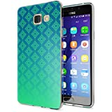 Samsung Galaxy A5 2016 Coque Protection de NICA, Housse Motif Silicone Portable Premium Case Cover Transparente, Ultra-Fine Souple Gel Slim Bumper Etui pour A5-16, Designs:Pattern Vert