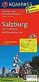 Salzburg u. Umgebung - Berchtesgadener Land: Fahrrad- und Mountainbikekarte. GPS-genau. 1:70000 (KOMPASS-Fahrradkarten Deutschland, Band 3122)
