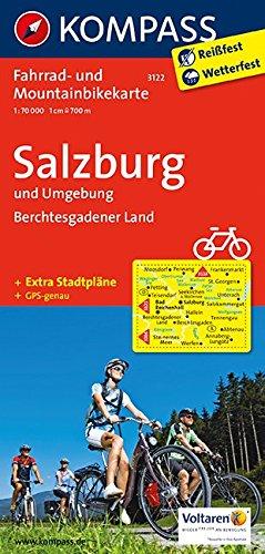Salzburg u. Umgebung - Berchtesgadener Land: Fahrrad- und Mountainbikekarte. GPS-genau. 1:70000: Fietskaart 1:70 000 (KOMPASS-Fahrradkarten Deutschland, Band 3122)
