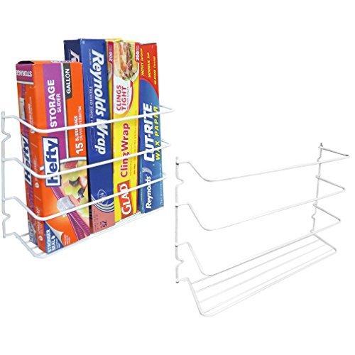 Evelots Set von 2Wand/Tür Montage Kitchen Wrap Organizer Rack Schrank Space Saver -
