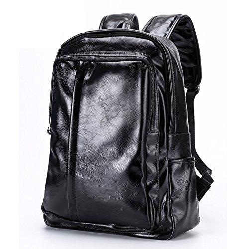 Versione coreana di zaino/Borsa a tracolla doppia/ borsa in pelle di moda/Zainetto maschile/Casual laptop bag-A