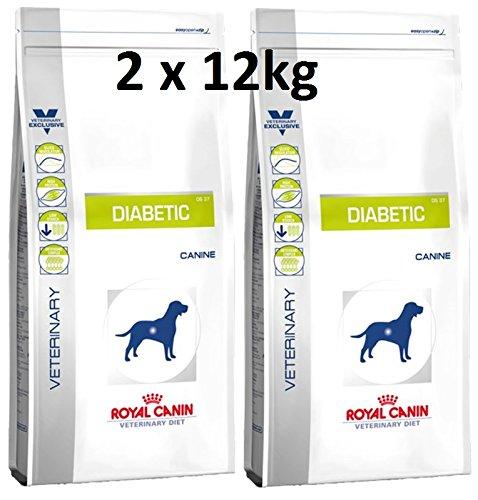 Royal Canin Veterinary Diet Canine Diabetic 2 x 12 - Canin Diabetic Hundefutter Royal