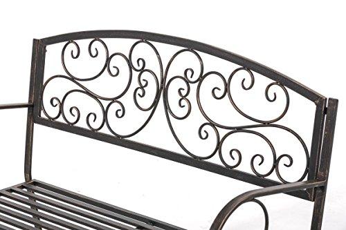 CLP Gartenbank AZAD im Landhausstil, Eisen lackiert, ca 110 x 50 cm Bronze - 4