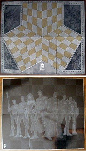 Preisvergleich Produktbild Schachbrett für Sammlung DC gemacht im Karton 83x71 cm.