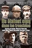 Ils étaient cinq dans les tranchées: Hitler-Mussolini-Churchill-Patton-de Gaulle