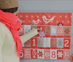 David Fussenegger Adventskalender Vögelchen Stoff zum selberfüllen 63 x 55 cm rot