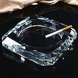 Cenicero KKY-ENTER Moda creativa Cristal Transparente Moda Atmosférica Personalidad de Lujo Sala de estar Oficina KTV Inicio Regalos, dando a los fumadores el mejor regalo