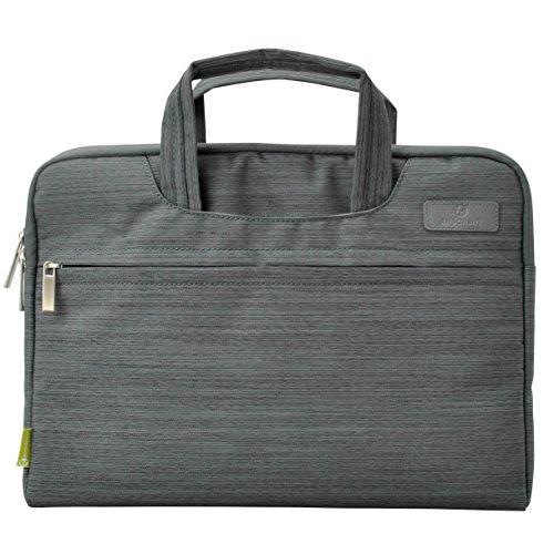 #DoYourMobile© Notebooktasche / Laptoptasche mit Tragegriff & Zubehörfach für Geräte ab 12Zoll bis 13,4Zoll ( passend für Laptops : Diagonale 48cm) dunkelgrau
