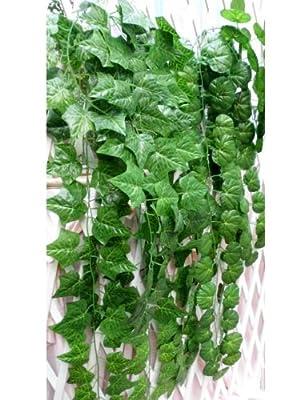 Sumchimamzuk 2M Efeu Girlande Efeubusch Efeugirlande Efeuranke künstliche Kunstpflanze Blätter für Hochzeit Party von sumchimamzuk auf Du und dein Garten