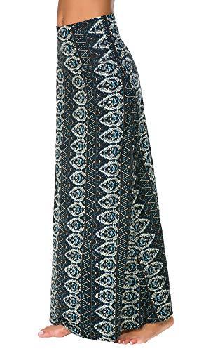 Falda Larga Maxi de Impresión de Estilo Bohemio de Las Mujeres Falda Ocasional (XL, 2)