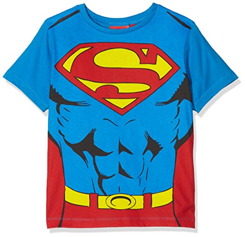 DC Comics Jungen T-Shirt Superman Cape, Blau, 4 Jahre (Comics Dc Kinder)