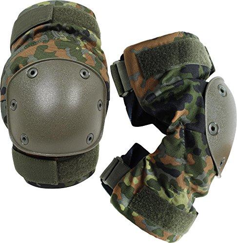 normani Knieschützer mit weichem und dehnbarem Komfortverschluss Farbe Flecktarn -