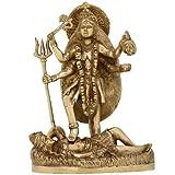 Göttin Kali Statue Messing Religiöse Geschenke für Mama Figuren Wohnzimmer Höhe: 24 cm