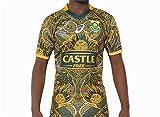 HBRE Maillot De Rugby Afrique du Sud,Coupe du Monde 2019,Maillot du 100 èMe Anniversaire,T-Shirt Imprimé,Football Respirant,T-Shirt Formation des Adultes,Top Uniformes De Football,L