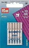 Prym 154232 Nähmaschinennadeln Jersey 70-90, 130/705, 5 Stück Nähmaschinennadel, Stahl, silber, 3,0 x 0,3 x 0,3 cm