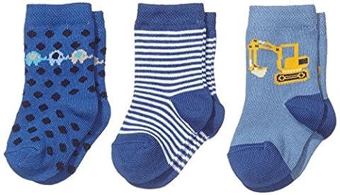 Twins Baby - Jungen Socken im 3er Pack, Gr. 18 (Herstellergröße: 17-18), Blau (blau 113)