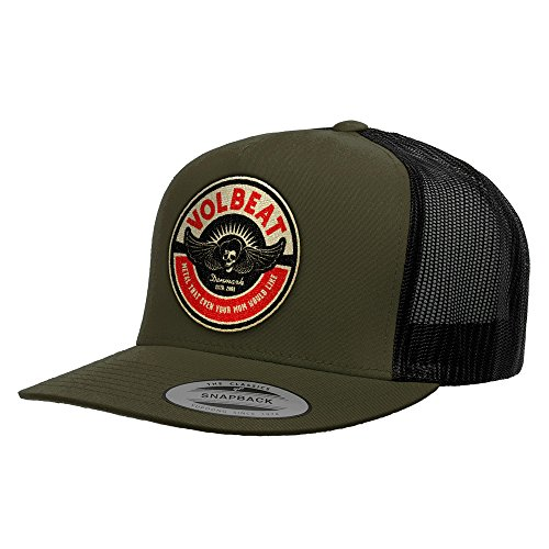 VOLBEAT - Circle Mom Mesh Cap Mütze Basecap dark olive / black