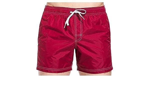 4d32ad7667 COSTUME UOMO SUNDEK BORDEAUX BOARDSHORT BURGUNDY M504B ELASTIC WAIST Size :  L: Amazon.co.uk: Clothing