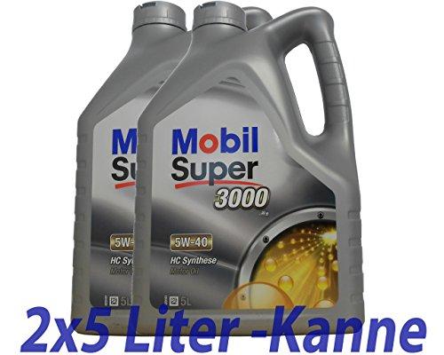 Huile moteur 5W40sup 30002x 5L x1–558.34.89–Mobil Super 3000x15W de de 40 pas cher
