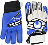 uhlsport Kinder Handschuhe ELIMINATOR SOFT SF JUNIOR, weiß/schwarz/energy blau, 4, 100017701