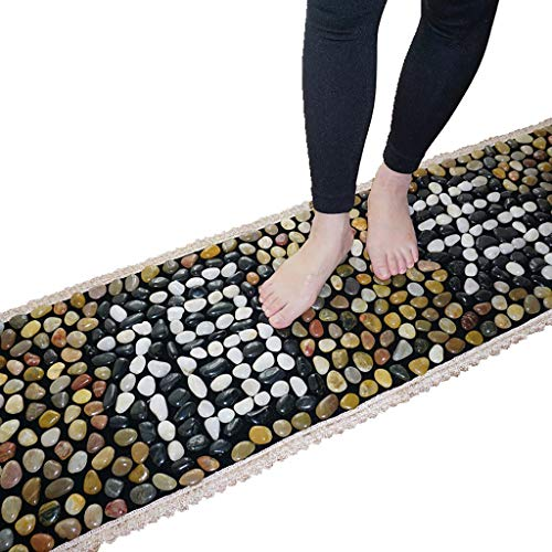 XLanY Reflexzonenmassage Fußmassage Matte Kissen Küche Bad Anti-Rutsch-Teppich, Road Walking Decke Fitness Home Massage Kissen Kopfsteinpflaster Akupressur Platte (Platte Küche Matten)