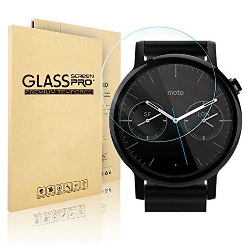 Nextany, pellicola protettiva in vetro temperato per smartwatch Motorola Moto 360