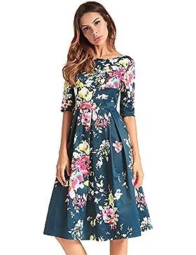 SJMMQZ Nuevo vestido vestido estampado