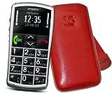 Suncase 39657920absaugart rot Tasche Etui für Handy hüllen für Mobiltelefone (Koffer Extraktion, Emporia Talk Basic, Rot)