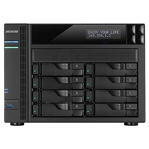 Asustor AS6208T 8-Bay NAS System (Intel Celeron Quad-Core Prozessor (Braswell), 4GB RAM (upgradefähig bis 8GB), 4xGigabit-LAN mit Link-Aggregation, HDMI 1.4b für 4K, HotSwap, Raid 0, 1, 5, 6, 10 JBOD)