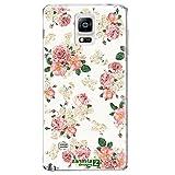 Zanasta Designs Schutzhülle Samsung Galaxy Note 4 Hülle Case Slim Cover mit Motiv Roses White (Rosen weiß)