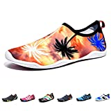 Barefoot Water Shoes Mens Womens Quick Dry Unisex Sports Aqua Shoes Lightweight Durable Sole for Beach Pool Sand Swim Surf Yoga Water Exercise (3.5UK/36EU, Style 8)