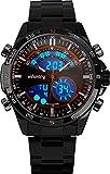Infantry Herren Analog-Digital Uhr Outdoor Chronograph Marine Rot Edelstahl Armband