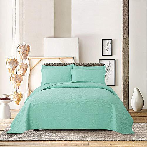 oanzryybz Gesteppte Steppdecke Baumwolle Bettwäsche Klimaanlage Quilt dreiteiliges Set - Jersey-stil Pin