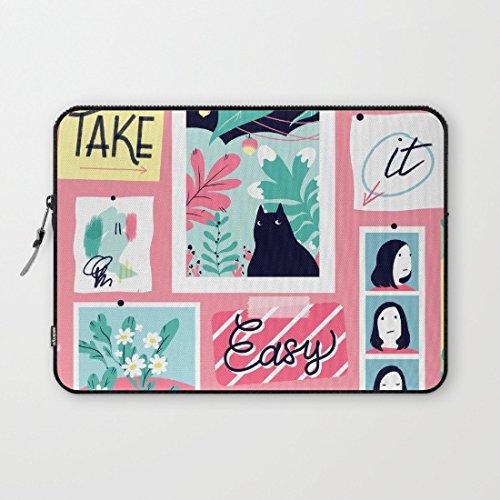 Preisvergleich Produktbild Neoprene Laptop Sleeve Bag 100885597 Schutzhülle, 13-13.8 inches, Take It Easy