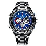 Globenfeld Reloj de Hombre Super Sport 2.0 - Reloj Deportivo Cronógrafo, Analógico/ Digital - Diseño Clásico Minimalista – Edición Limitada – Cristal Resistente a Arañazos – Garantía 5 años