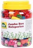 Lena 32044 - Bastelset Jumbo Box Holzfädelperlen