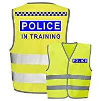 Police Kids,Childs Hi-Vis Safety Vest Jacket High Visibility Viz