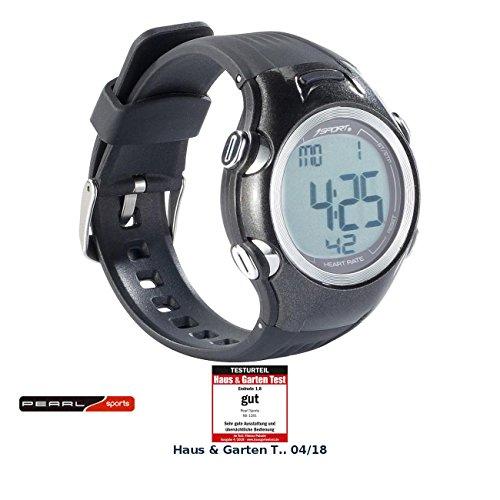 PEARL Sports Pulsmessuhr: Fitness-Uhr, 3 Intensitätsstufen, LCD-Display, Stoppuhr-Funktion, IPX4 (Fitness Pulsuhren)