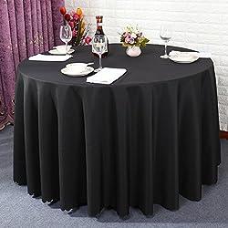 Mantel del color sólido grueso/mantel para mesas de hotel/ manteles del restaurante del hotel/ el mantel/ mantel de boda picnic/ Fondos de banquetes-S diámetro200cm(79inch)