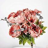 ZTTLOL Pfingstrose Ölgemälde Dekorative Blumen Künstliche Seidenblumen 11 Brunch Tisch Organisieren Für Hochzeit Home Hotel Dekoration