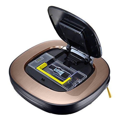 LG Electronics VRD 830 MGPCM Total Care Roboter-Staubsauger (Raumerkennung durch Dual-Kamera System, 4 Reinigungsmodi, inkl. Wischmopp und Teppich- und Tierhaarbürste) metal gold - 7