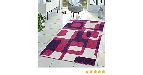 Tappeto Cameretta Lilla : T&t design tappeto per stanza dei bambini rosa lilla crema retrò