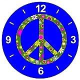 'Cristal Reloj 'Retro de Flores de decorativa de ARTIFICIAL de Ornamentales de paz de...