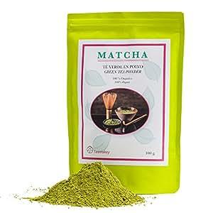 Tè Matcha 100g. Polvere di Tè verde Bio. Agricoltura biologica. Cerimoniale The Matcha senza additivi. Potente antiossidante, aiuta a perdere peso e ad aumentare al concentrazione. Tesmakey.