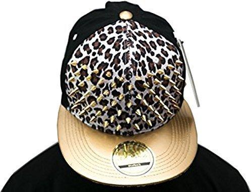 leopard Strass besetzt Weiß snapback, SP, gold Kollektion,
