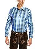 Fuchs Trachtenmoden Herren Trachten Hemd, Gr. Kragenweite: 45 cm (Herstellergröße: XXL),Mehrfarbig (Blue/White Check)
