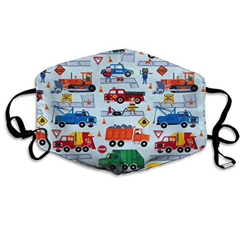 Dust Gold Kostüm - liang4268 Mundmasken Construction Trucks Fashion Earloop Face Masks Anti-Dust Anti Flu Pollenm Germs Bacteria Virus Smog Face and Nose Cover with Adjustable Elastic Strap Medical Mask