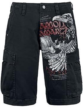 Amon Amarth Raven Cargo shorts Negro