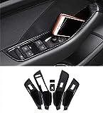 HDCF Autofenster Glashebeknöpfe Rahmen Tür Aufbewahrungsbox Abdeckung Trim 6 stücke Für A3 8 V 2014-2018 LHD ABS Kohlefaser Stil